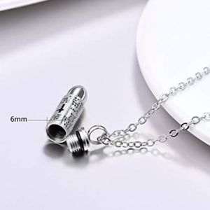 Jewelry - Bullet Military Jewelry Perfume Bottle Necklace
